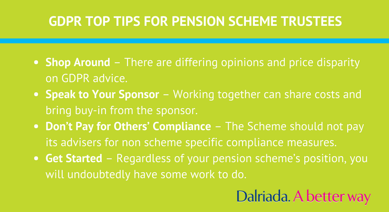 GDPR Top Tips for pension scheme trustees