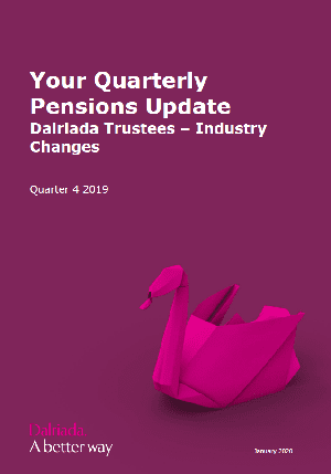 Your Quarterly Pensions Update Q4 - Front cover